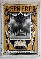 THE SPHERE MAGAZINE NO 2175.FUNERAL GEORGE VI,FEB 23 1952,B/W ILLS PHOTOS