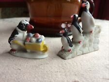 Antique Cake Toppers Snow Babies Penguins