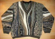 FLAWLESS! TUNDRA CANADA COTTON COOGIE BIGGIE STYLE V-NECK SWEATER-LARGE