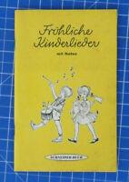 Fröhliche Kinderlieder mit Noten - Schneider Buch B19566
