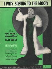 I Was Saying To The Moon 1936 Mae West in Go West Young Man Sheet Music