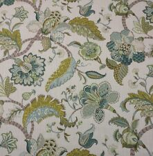 "BALLARD DESIGNS COURTNEY SPA JACOBEAN FLORAL MULTI USE FABRIC BY THE YARD 54""W"