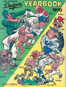 1970 Los Angeles Dodgers Yearbook Near Mint