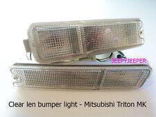 Clear Front Indicator Bumper Light Mitsubishi Triton MK L200 Pickup 96-06 UTE