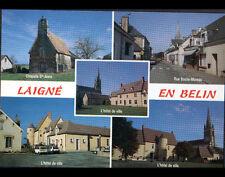 LAIGNE EN BELIN (72) Commerce PATISSERIE , CHAPELLE , MAIRIE & EGLISE