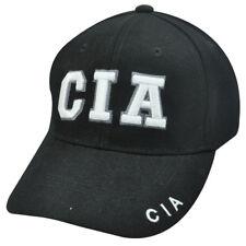 CIA Central Intelligence Agency Black Baseball Cap Hat Law Enforcement