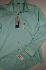 KENNETH COLE REACTION Sea Spray Green Slim Fit Dress Shirt L 16-1/2 32/33