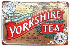 Yorkshire Tea Rich & Refreshing Farmhouse Kitchen Wall Door Sign 30 x 20 cm