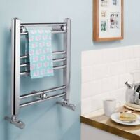 Valdern Small Chrome Heated Towel Radiator Rail For Kitchen Bathroom Cloakroom