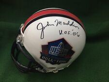 """John Madden Signed Mini Helmet Oakland Raiders """"HOF '06"""" inscribed JSA COA"""