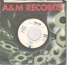 Styx, Why Me; White Label Promo Mono/Stereo 45 w/ A & M Records Sleeve
