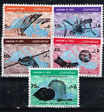 Libya Kingdom Sport Mediteranian Games Map stamps set 1963 MNH