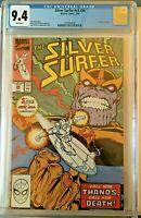 Silver Surfer #34 (Feb 1990) CGC 9.4 WP- Key Issue_ Thanos ! Writer:Jim Starlin