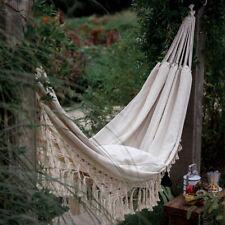 Double Boho Tassel Nest Hammock Swing Chair Outdoor/Indoor Garden Hanging UK