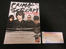 Primal Scream 2013 Japan Tour Ticket Stub with Flyer C86 Creation