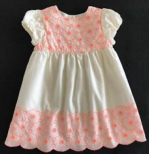 MINI BABY BODEN Floral Eyelet Dress Size 12-18 Months