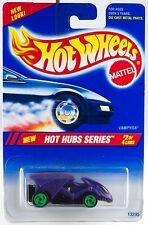 Hot Wheels No. 308 Hot Hub Series #2 Vampyra Green 3 Spokes Wheels New 1995