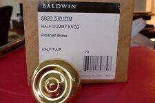 Baldwin 5020.030.IDM Solid Brass Door Knob , Polished Brass Dummy. New
