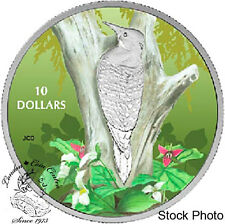 Canada 2017 $10 Birds Among Nature's Colours - Northern Flicker Silver Coin