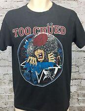 Vintage Motley Crue Concert T Shirt L Too Crued 80's Jailhouse Rock Heavy Metal