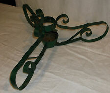 """Vintage Iron Tree Stand, Lovely Curls, Tip proof, 3 legs, 22"""" span x 7"""" heigh"""