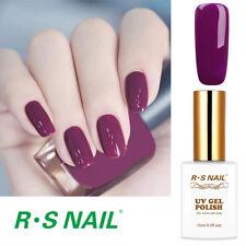 RS Nail Gel Nail Polish UV LED Varnish Soak Off Hybrid UV Gel Colour Purple 15ml