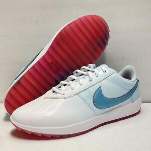 Nike NRG Rare Women's Cortez Golf Shoes White Aqua CI2283-110 Sz 10.5 Golfing NW