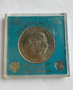 Crown Coin 1981 Royal Wedding commemorative HRH Prince of Wales & Diana Spencer.
