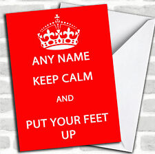 Keep Calm Personalised Retirement Card