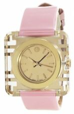 TORY BURCH IZZIE GOLD-TONE DIAL PINK LEATHER STRAP LADIES WATCH TRB3010 NEW