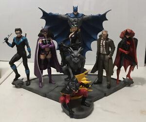 Batman Family Statue Full Set,  DC Comics 4 Separate Piece Total Displayed