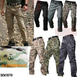 Men's Outdoor Military Tactical Pants Cargo Combat Casual Waterproof Trousers