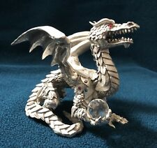 Handcrafted Pewter Dragon With Swarovski Crystal