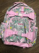 pottery barn backpack Small Girls Pink Horses Monogram *Lexi* EUC
