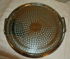 """VINTAGE RANLEIGH Stainless MADE AUSTRALIA TWIN HANDLED Round TRAY 13 1/4"""" D"""