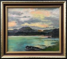 More details for 20th century english school oil on board landscape painting. signed.