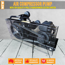 NEW 12CFM AIR COMPRESSOR PUMP & 3hp ELECTRIC MOTOR FULL SETUP MINUS TANK