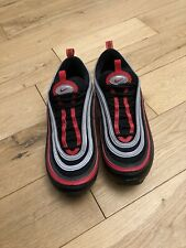 Nike Air Max 97 Size 6 Red Black Silver