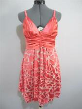 "BLOCKOUT Evening Cocktail ""NWT"" Sun DRESS Sz 12 Coral  Silk & Satin Dance Party"