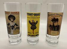 3 Fernet Branca Milano Italian Collectible Shot Glasses