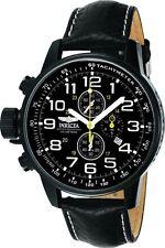 Invicta 46mm I Force Lefty 3332 Quartz Chronograph Leather Strap Watch  ,NEW
