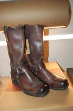 NIB Frye Harness 12R Boots Mens Dark Brown Handmade In The USA size 7 1/2 M $448