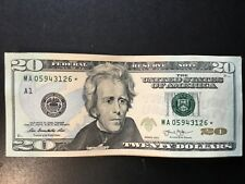 2013 $20 FEDERAL RESERVE STAR NOTES WASHINGTON,DC YOU GET ONE NOTE AU
