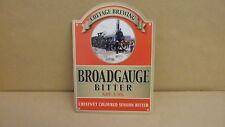 Cottage Brewing Broadgauge train Bitter Ale Pump Clip face Bar Collectible 44