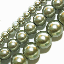 WHOLESALE GLASS PEARLS BEADS 4MM 6MM 8MM ROUND BEAD STRANDS FAUX PEARL