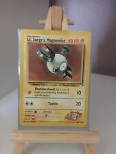 Pokemon Card WOTC Gym Heroes Lt Surge's Magnemite 80/132  FAST FREE UK POST
