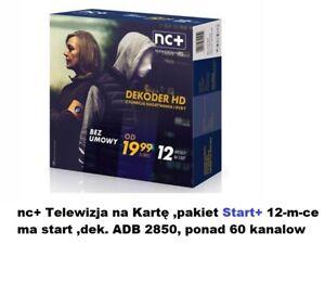 NC+ZestawTnK START+ na 12miesięcy Telewizja na karte,canalplus,polsat, tvn