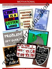 MOTIVATIONAL POSITIVE ATTITUDE INSPIRE SCHOOL EDUCATIONAL POSTER SET (8) A3 SIZE