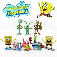 8 SpongeBob SquarePants Action Figures Doll Kids Playset Toy Cake Topper Decor