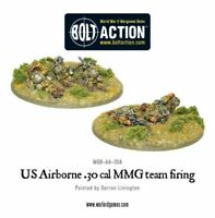 WARLORD GAMES - US AIRBORNE 30 Cal MMG team firing 28mm Bolt Action USA Amérique